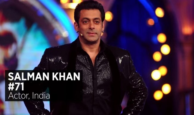 Salman Khan in Forbes list at No. 71