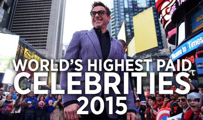 Forbes list: World's Top 10 Highest Paid Celebrities of 2015