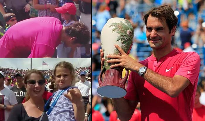 Roger Federer twin daughters steal show at Cincinnati Open 2015 final! Celebration video is just too adorable