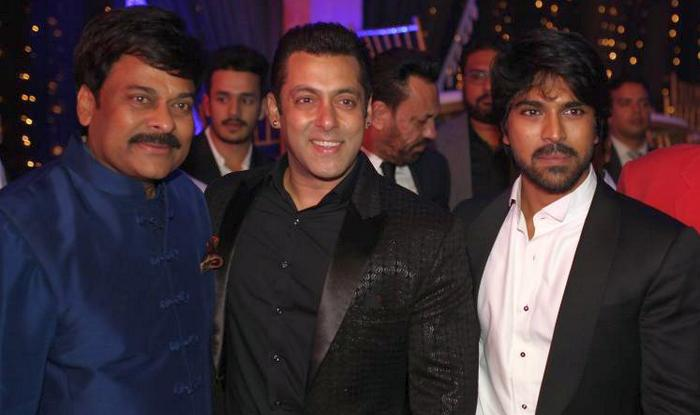 Salman Khan with Chiranjeevi and Ram Charan