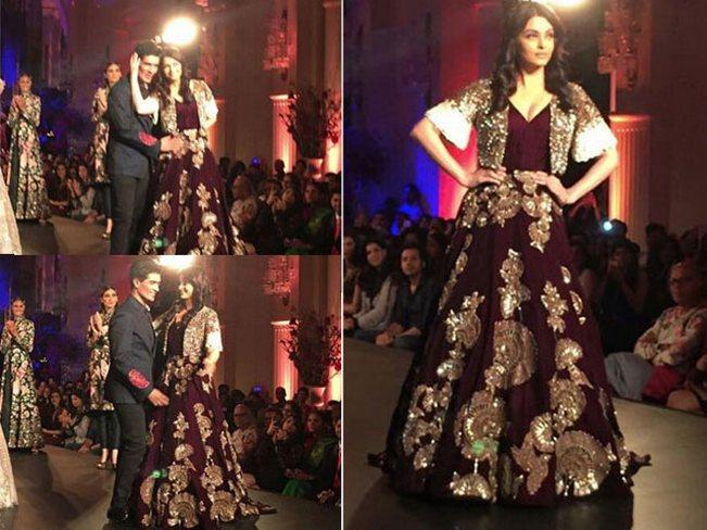 Amazon India Couture Week 2015 grand finale: Aishwarya Rai Bachchan sparkles on the ramp for Manish Malhotra