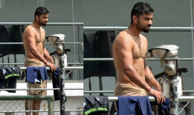 Virat Kohli dares to bare in towel - See picture of Indian