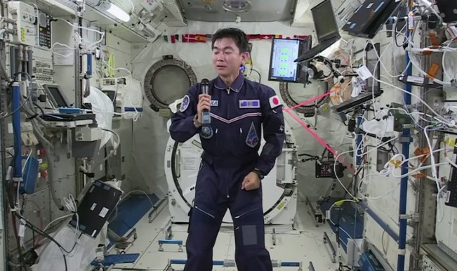 International Space Station crew member talks to Japanese students from space! (Watch video)