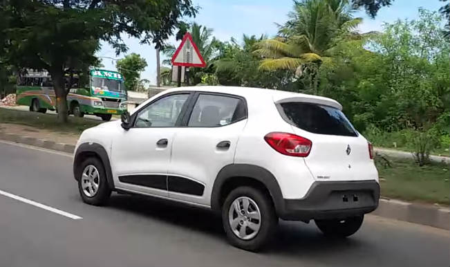 Renault Kwid Spotted On Road Watch Video Buzz News Indiacom