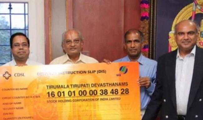 Tirupati Balaji Temple opens Demat account to accept donations through shares!