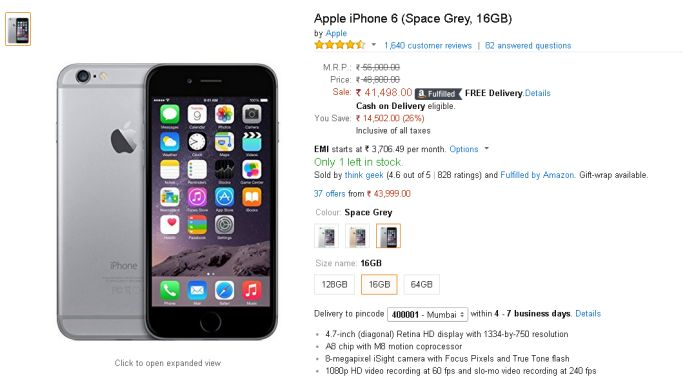 iphone 6 price in india apple iphone 6 price drops to nearly rs 41000 in india 2276