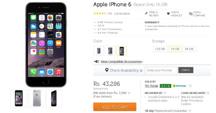 Apple iPhone 6 price drops to nearly Rs 41000 in India