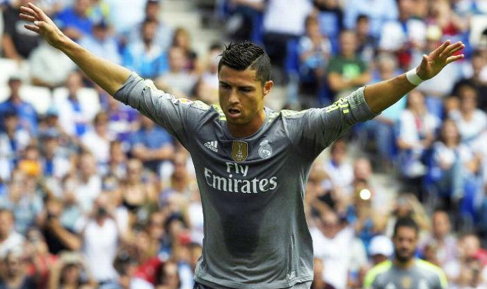 Cristiano Ronaldo scores 5 goals against Espanyol in Spanish La Liga