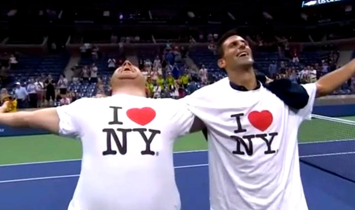 Novak Djokovic does 'Gangnam Style' dance at US Open 2015: Watch him celebrate with fan