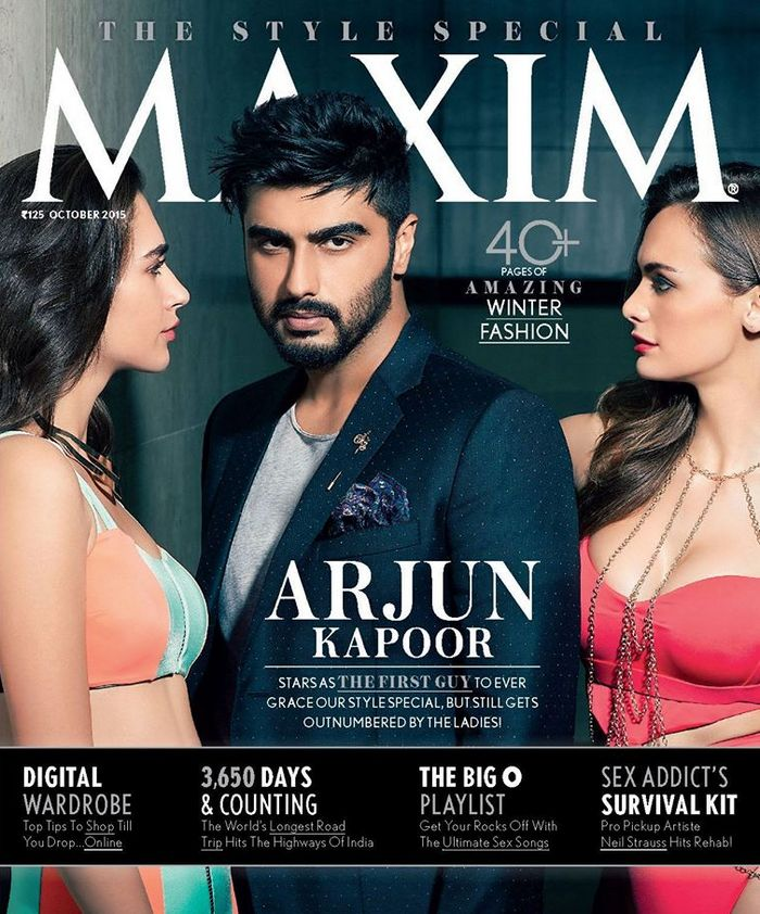 Arjun Kapoor First Indian Man To Grace The Cover Of Maxim Check Him Out