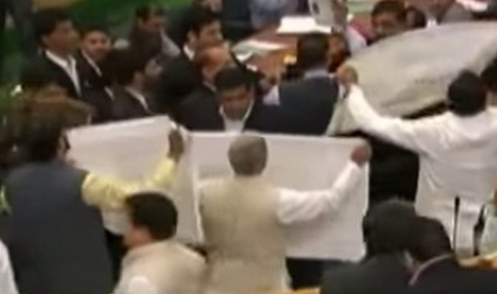 J&K Assembly: Ruckus over beef ban continues (Watch video)