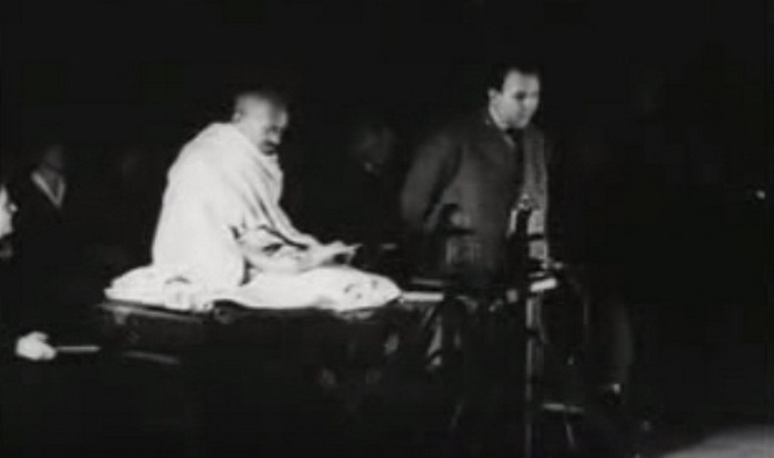 Mahatma Gandhi's speech on non-violence in Geneva: Rare video footage of MK Gandhi!
