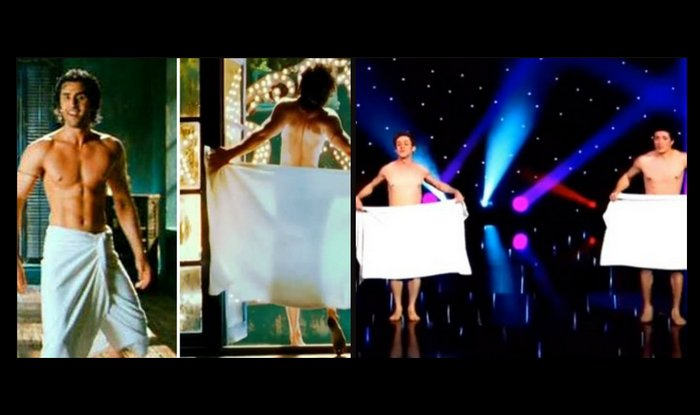 ranbir kapoor towel dance video
