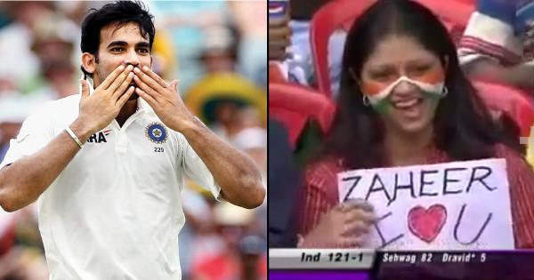 When Zaheer Khan accepted a crazy fan's proposal during live cricket match! Watch video