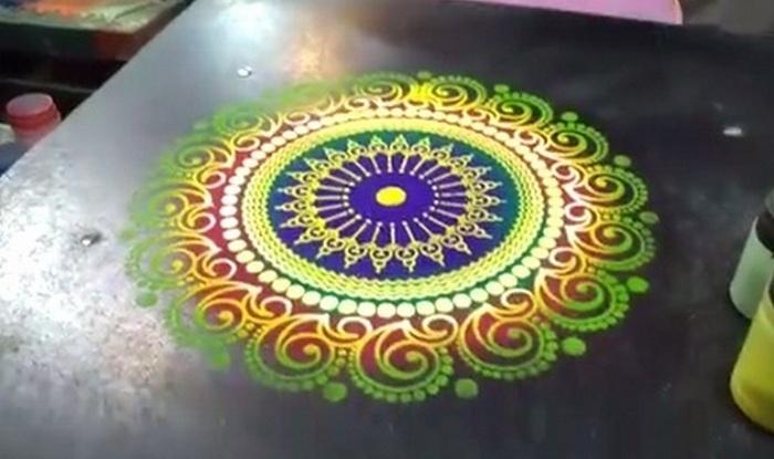 diwali 2015 rangoli how to put special colours in rangoli