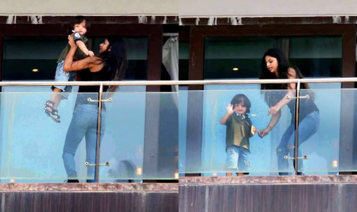 shah rukh khans kids aryan amp suhana steal limelight on