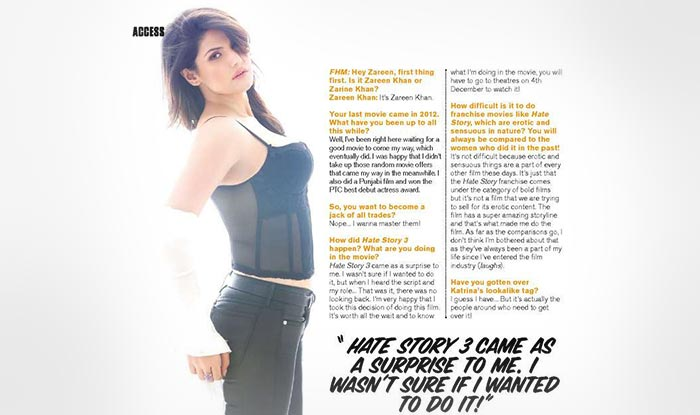 Zareen Khan Raises The Heat As Fhm India Cover Girl Entertainment