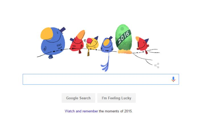 google welcomes 2016 with the cutest doodle ever buzz news india com