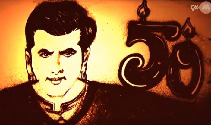 Salman Khan sand art video