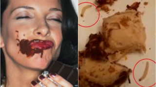 Woman finds live maggots crawling in chocolate before biting into the sweet bar!