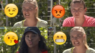 Maria Sharapova, Serena Williams lead tennis stars brigade in making emoji faces! Watch video