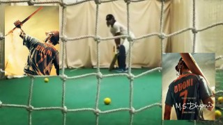 Video of Sushant Singh Rajput net practising MS Dhoni's batting style is impressive!