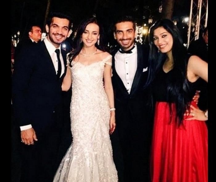 sanaya-irani-and mohit sehgal wedding reception