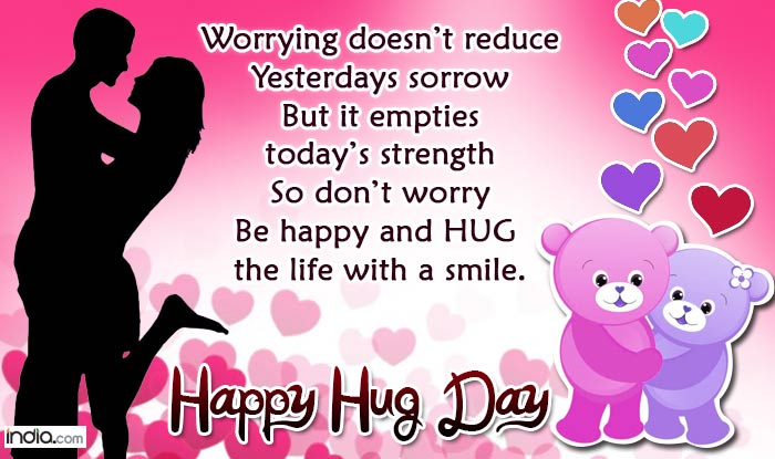 Happy Hug Day 2016 Wishes: Best Hug Day SMS, WhatsApp