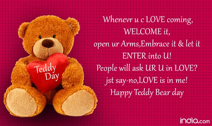 Teddy Day 2017 Wishes Best Quotes Sms Facebook Status Whatsapp