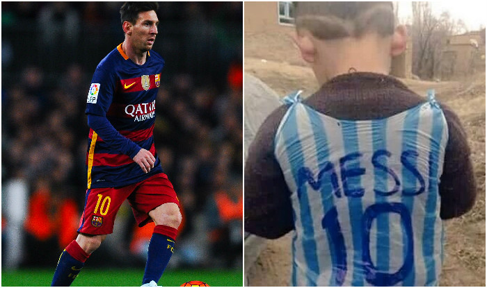 23872874d38 Lionel Messi intends to meet 5-year-old Afghani fan with plastic jersey