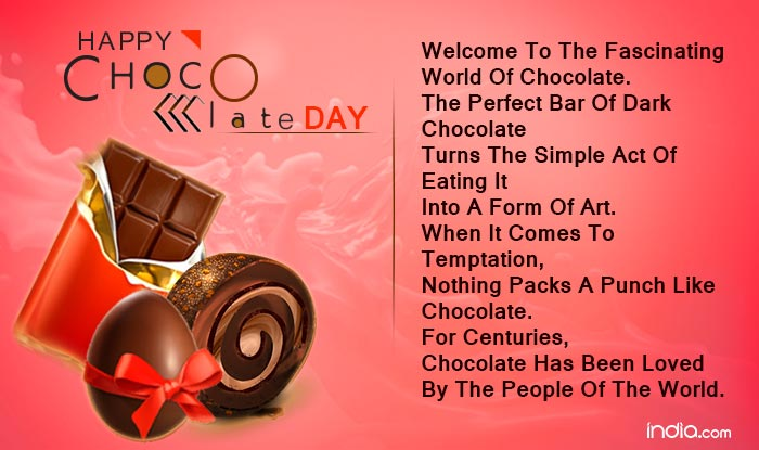 Happy Chocolate Day 2016 Wishes: Best Quotes, SMS, Facebook Status ...