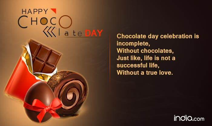 Chocolate day 2017 wishes happy chocolate day quotes sms facebook whatsapp messages chocolate day celebration is incomplete without chocolates just like life is not a successful life without a true love m4hsunfo
