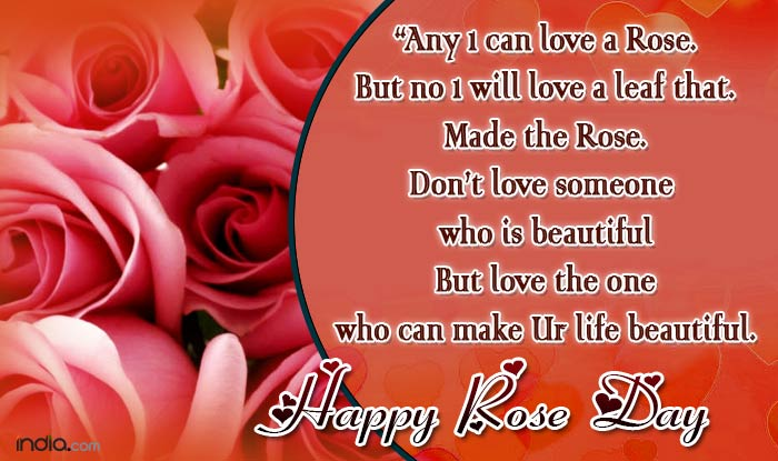 Happy Rose Day 2017 Best Rose Day SMS Quotes WhatsApp – Valentine Card Messages for Boyfriend