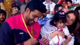 Aaradhya Bachchan cheers with mom Aishwarya for dad Abhishek's Pro Kabaddi League team! Watch video