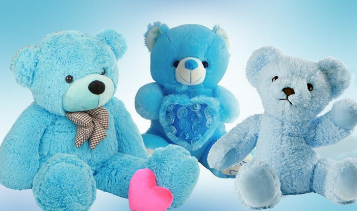 Happy teddy day 2017 importance of teddy day and teddy bear colours blue is often associated with the hue of sky and sea this colour is one of the most royal shades and symbolises depth intelligence truth loyalty altavistaventures Images