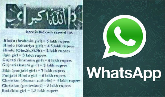 'Love Jihad' WhatsApp message offering Muslims cash rewards for marrying Sikh, Hindu girls goes viral in Gujarat