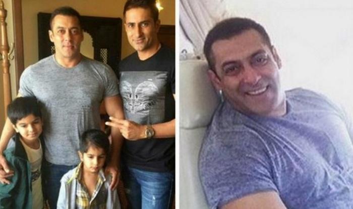 Salman Khan with fans in Surat