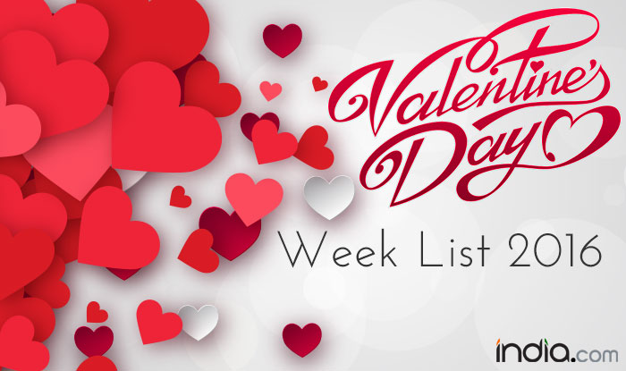 Valentine Week List 2016 Rose Day Propose Day Kiss Day Complete