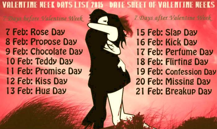 antivalentine's day 2016 dates for slap day kick day