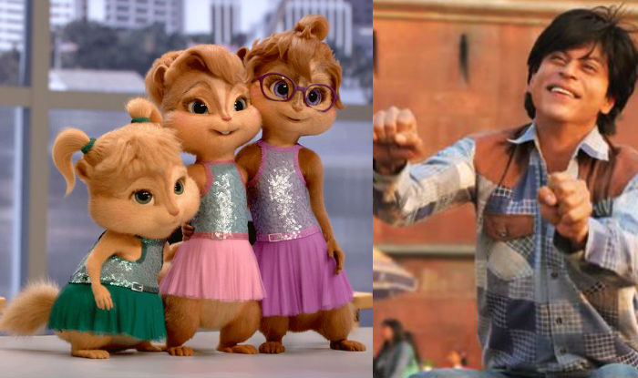 lol watch how chipmunks sing and dance to shah rukh khan