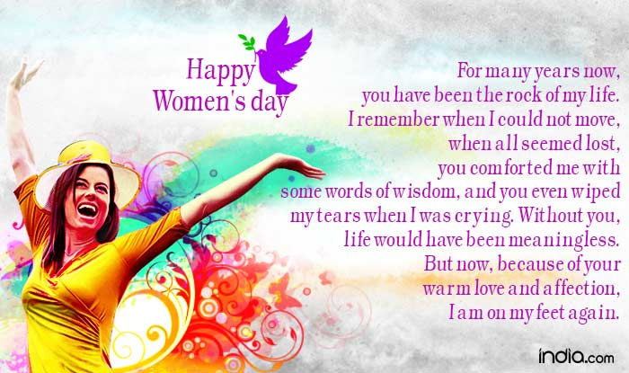 International Womenu0027s Day 2016: Best Womenu0027s Day SMS, WhatsApp U0026 Facebook  Messages To Send Happy Womenu0027s Day Greetings!   India.com