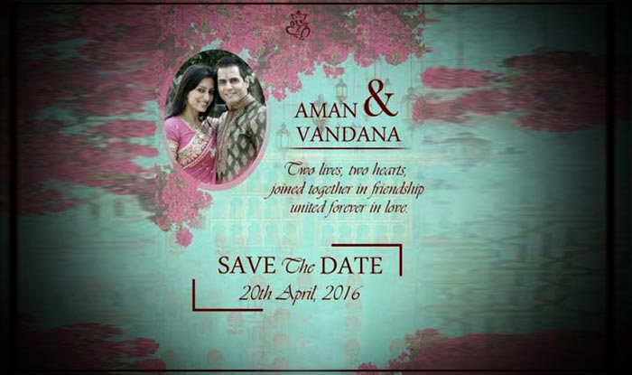 Aman verma vandana lalwani wedding card is here check out bigg now aman and vandanas beautiful wedding card is doing rounds on social media and we must say the bigg boss contestant has shocked his fans with his stopboris Image collections