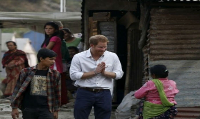 Prince Harry plays volleyball with students of earthquake ravaged school