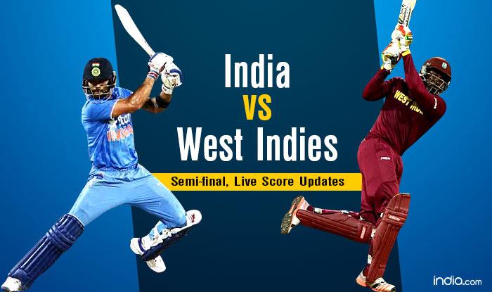 India vs West Indies Cricket Live Score, Mumbai Updates: WI 196/3 in