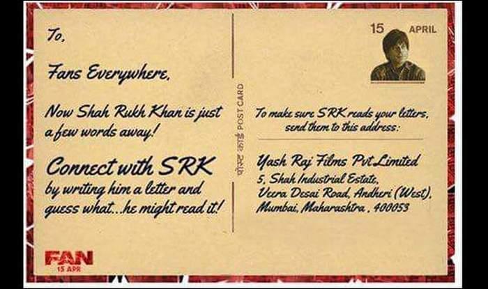 srk invites fans to write letter to him shah rukh khan