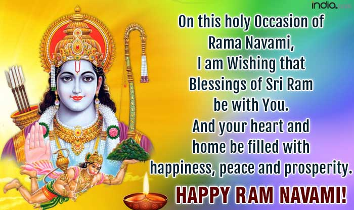 Rama navami wishes best rama navami sms messages whatsapp whatsapp reads on this holy occasion of rama navami i am wishing that blessings of sri ram be with you and your heart and home be filled with happiness m4hsunfo