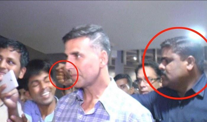 Akshay Kumar's bodyguard punches fan at Mumbai airport