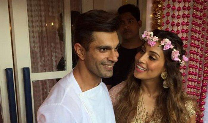 Karan Singh Grover and Bipasha Basu at Mehendi