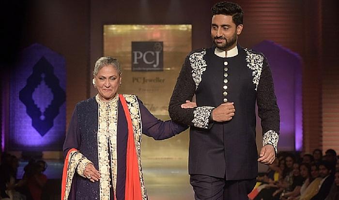 Jaya Bachchan and Abhishek Bachchan