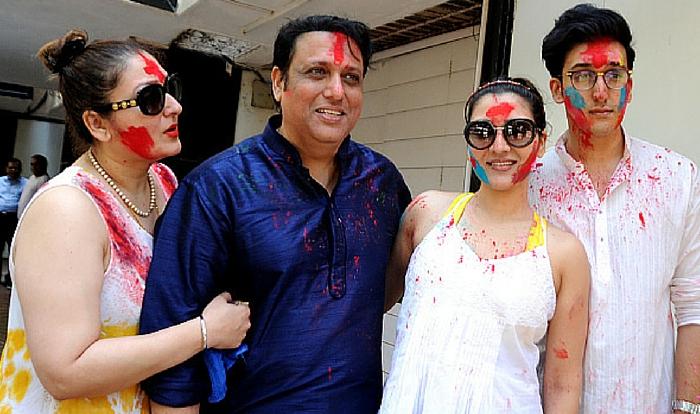 actor Govinda Ahuja and family